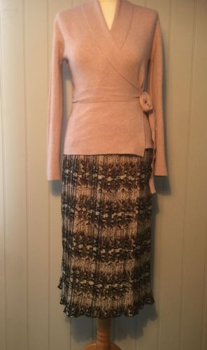 Pleated Midi Skirt - Snakeskin Print